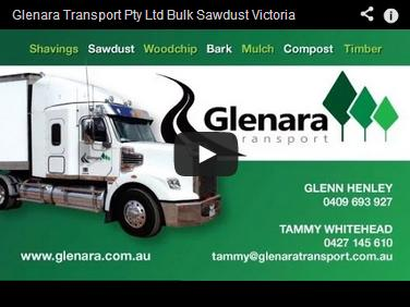 trucking bulk sawdust glenara video