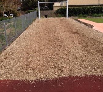 flying-fox-playground-equipment-with-wood-chips-for-safety